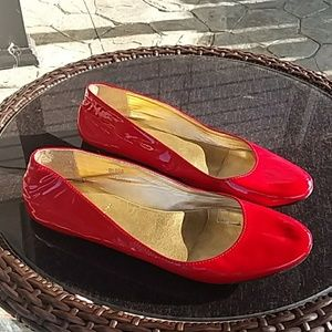 J. Crew made in Italy red patent flats